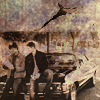 Superhypertesseract: boys on car newspaper