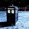 TARDIS in snow by starpollo