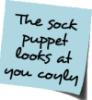 Carrie Leigh: sock puppet