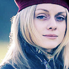 blonde woman beret