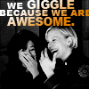caress your associative mind: bsg Kara & Laura giggle