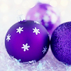 Purple Christmas Bulbs