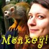 sad picture of girl getting bitterer: monkey