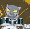 Shalanna: cat drummer