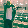 won`t give up