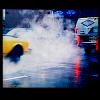 car & fog