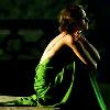 Cecilia's green dress