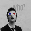 """Dr Who - 10th red/blue glasses """"Who?"""""""