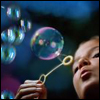 *blowing bubbles