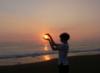agarrando el sol