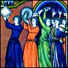 rejoicing, dancing, singing