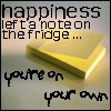happiness left a note