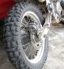 KLR rear wheel