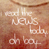 lyrics icons - I read the news today