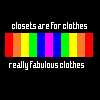 closets are for clothes.