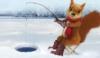 wiewiorka na lodu