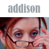 Natalie: Addison with glasses