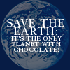 screen_queen: Save the Earth - only planet with chocol