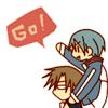 Ryoma rides his buchou