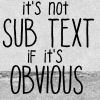 This journal is all about ME: Gen - Obvious Subtext