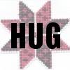 Mrs_Sweetpeach: Eight-pointed star with a Hug