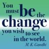 Gandhi, change