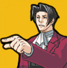 Miles A. Edgeworth: pointing