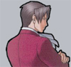 Miles A. Edgeworth: turned away