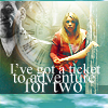 angelfireeast: Doctor Who: Nine & Rose ticket for two