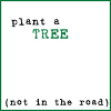 Text: Plant a tree