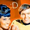 Spiletta42: Chekov Uhura smile