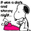 Writing Snoopy