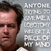 Jack Nicholson lobotomy