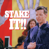 Tracey: Jack - stake it