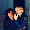 star_lace: BSG // Roslin and Starbuck Giggling