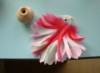 White and Pink jagged petal