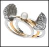жемчуг, ракушка, кольцо