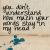 words stay