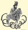Sidesaddle and on a Zebra