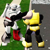 sims 2 - transformers pillow fight