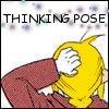 Thinking pose