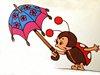 с зонтом