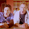 Me: Scrubs - JD and Dr. Cox Shocked