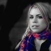 ThroughAnAmberFocus: BW Rose with Color Scarf