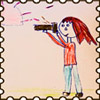 картинка, детский рисунок, фотограф, марка