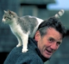 Michael Palin and cat