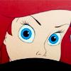 Ariel peering fiercely