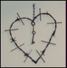Barded wire heart