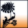 orange lineart lotus