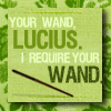 hp: your wand lucius